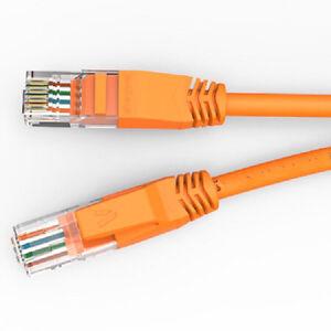 50ft Cat5e Rj45 Network Lan Router Ethernet Internet Patch Cable Cord Cca Orange Ethernet Cables (rj-45/8p8c) Computers/tablets & Networking