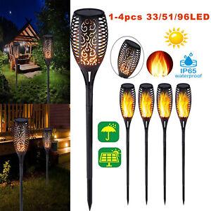 96LED-Solaire-Torche-Jardin-Lumiere-Danser-Vacillante-Flamme-Paysage-Lampe-Deco