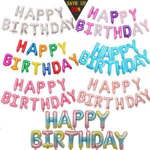 Joyeux-Anniversaire-Ballon-banniere-Bunting-Party-auto-gonflant-Lettres-Ballons