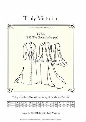 Truly Victorian sewing pattern for Tea Gown Wrapper TV432  NEW UNCUT