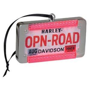HD-Harley-Davidson-Christbaumschmuck-LED-Kennzeichen-Open-Road-Ornament-HDX99135
