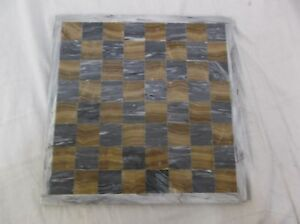 Grey & Tan Marble Checkers & Chess 14 Inch Game Board 140164