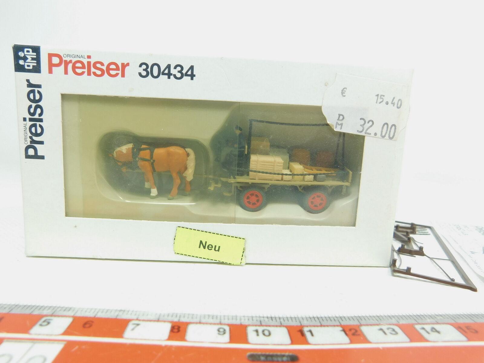 BK139-0,5Preiser H0 1 87 30434 Speditionsrolle (Pferde mit Anhänger), NEUW+OVP