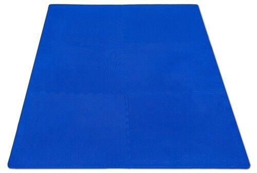 Schutzmatte Puzzlematte Bodenschutz Matte Fitness Training blau 16-teilig
