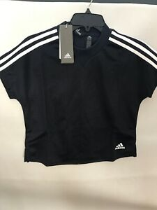 Adidas-Women-AtTEETude-Tee-Athletic-Shirt-NEW-NWT-2XS-40-Color-Ink-Black-Blue