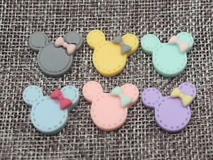 20-Mixed-Color-Flatback-Resin-Cute-Mouse-Head-Cabochon-22X20mm-Scrapbooking