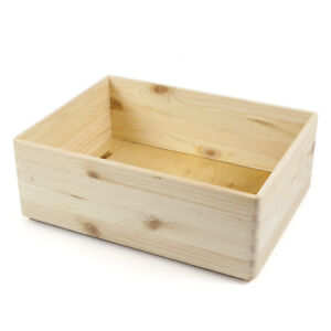 holzfee holzkiste 40 x 30 x 14 aufbewahrung box kiste stapelbox holz holzbox ebay. Black Bedroom Furniture Sets. Home Design Ideas