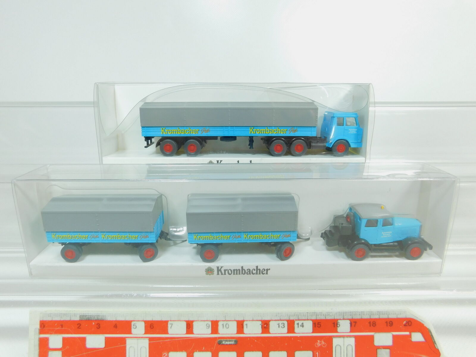 Bo428-0, 5  2x Wire h0 1 87 camion Hanomag KROMBACHER  2821 + ST 100, Neuw + OVP