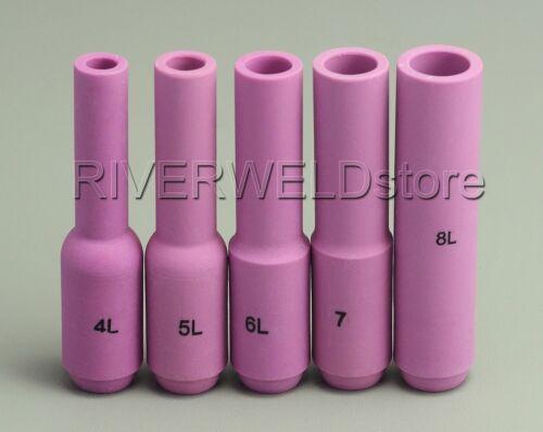 TIG Long Alumina Nozzle 10N50L 10N49L 10N48L WP 17 18 26 TIG Welding Torch 5pcs