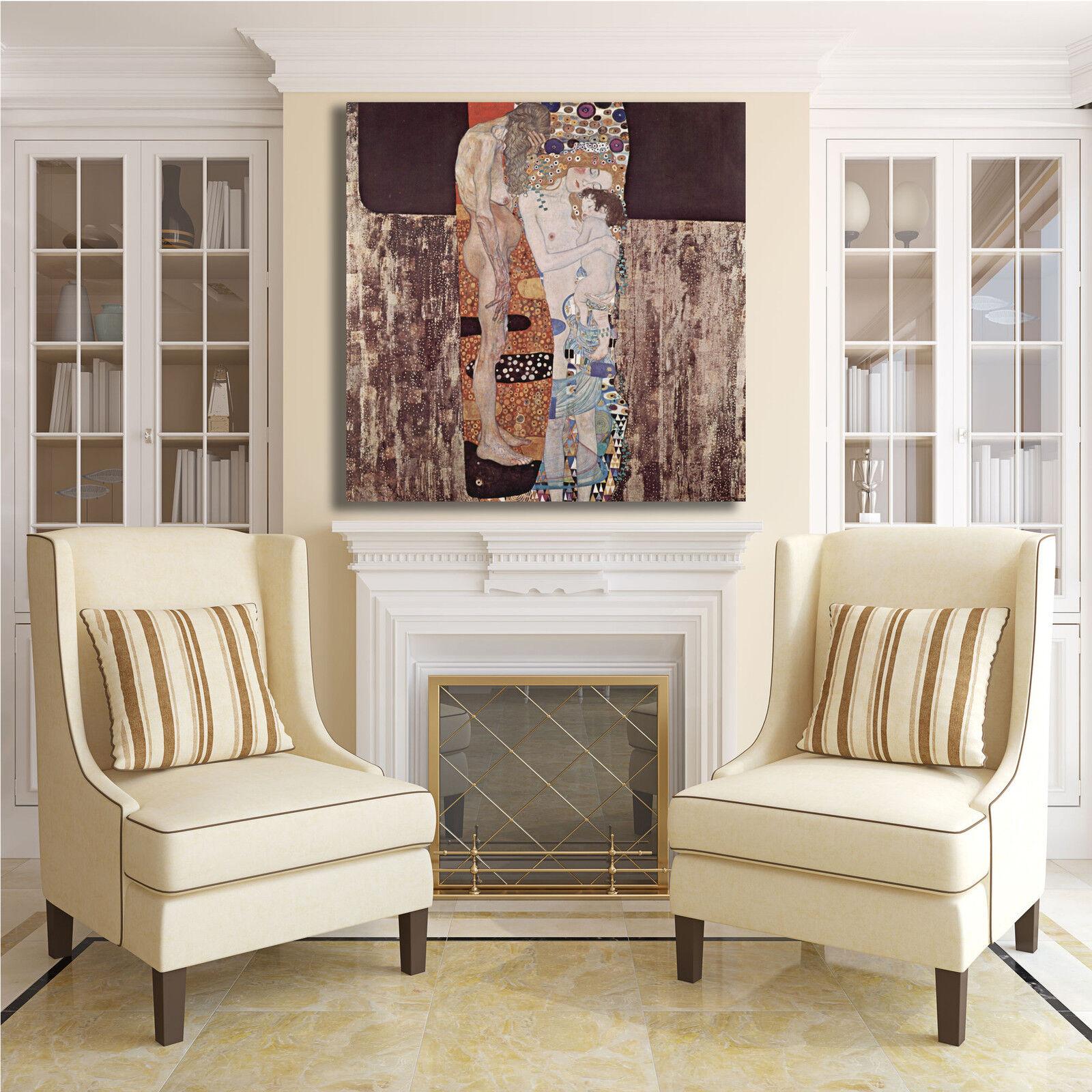 Gustav tre Klimt le tre Gustav età della vita quadro stampa tela dipinto telaio arRouge o casa 818538