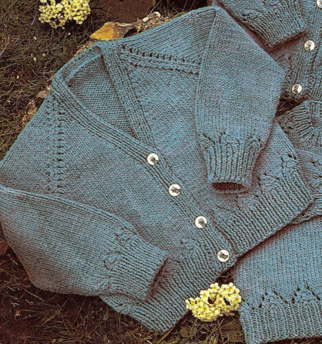 Baby//toddler cardigan and sweater knitting pattern DK and 4 ply 118