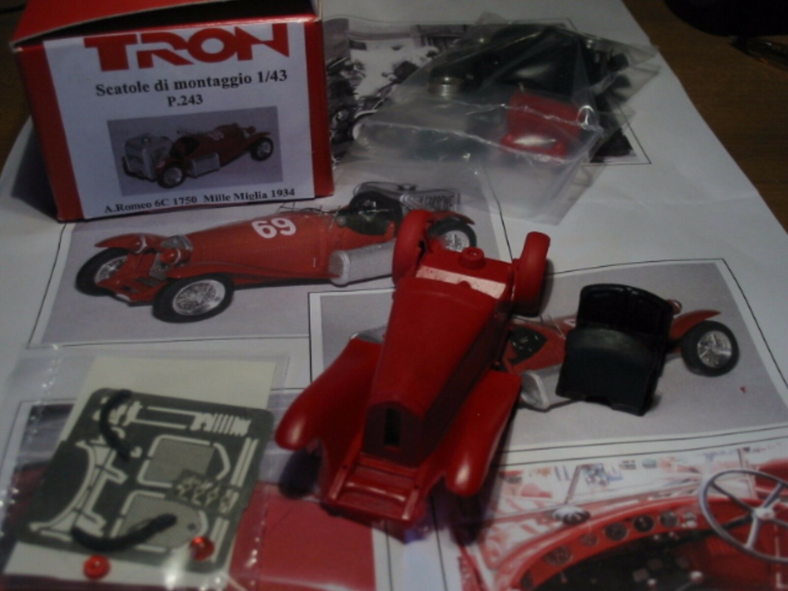 +kit Alfa Romeo 6C 1750 Gasogeno Mille Miglia 1933 - Tron Models kit 1 43