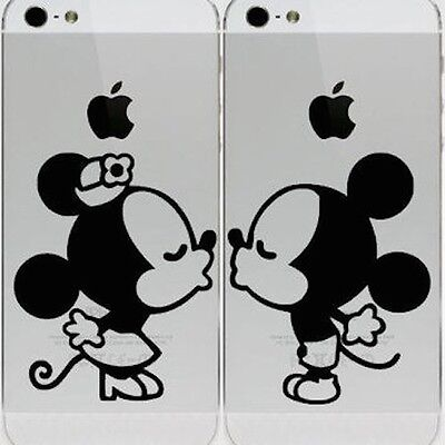 Mickey Minnie Kissing Apple iPhone 6 iPhone 5 5s Vinyl Decal Sticker Skin