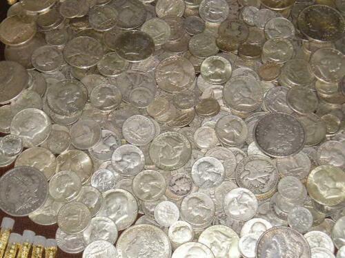 1+OZ 90/% PURE SILVER ALL 1950/'s MIXED DATE COINS HALF DOLLAR QUARTER DIMES