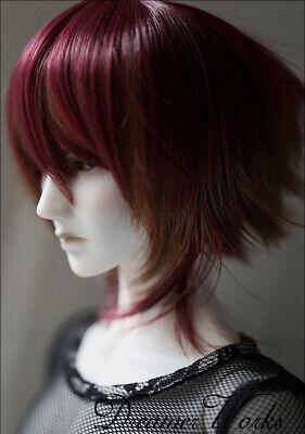 Bjd Doll Wig 1//4 7-8 Dal Pullip AOD DZ AE SD DOD LUTS Dollfie red brown Toy Hair
