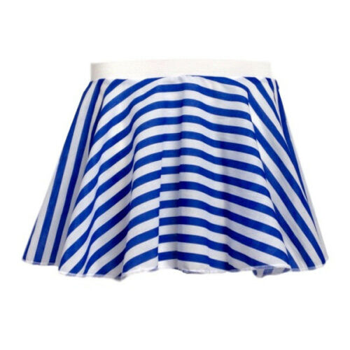 GIRLS Stripe Skirt MUNCHKIN Candy stripe DANCE Pantomime COSTUME Rock and Roll