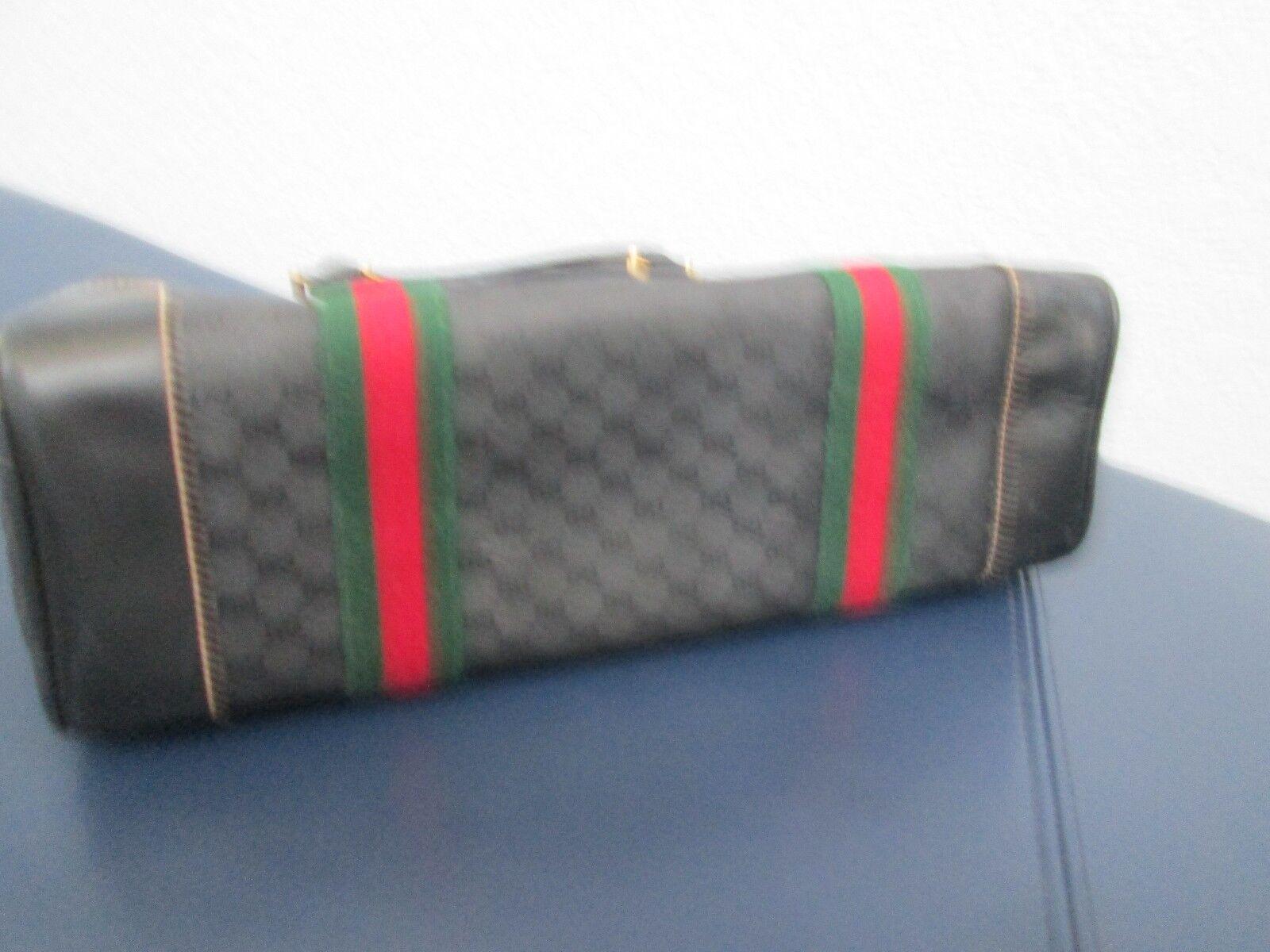 Authentic Vintage Gucci Black Classic Satchel Red… - image 5
