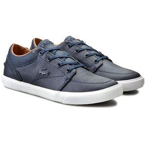 9c14316a86ea20 Lacoste Bayliss Vulc PRM US SPM Men s Leather Trainers Shoes Navy ...