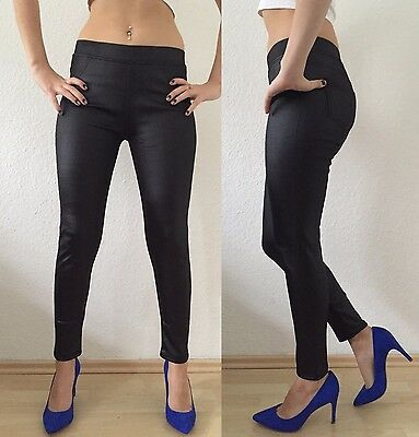Original Sexy Thermo Leggings Leder Optik Legins Fell Damen Warme Winterhose Gr 36-42 Ample Supply And Prompt Delivery Leggings