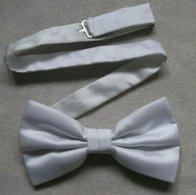 Bow Tie Mens NEW Bowtie Adjustable Dickie SILKY PURE WHITE