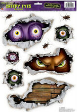 HALLOWEEN CREEPY EYES wall stickers 9 decals scary roaches spooky room decor