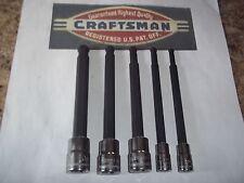 CRAFTSMAN HAND TOOLS 5pc 1/4 3/8 METRIC Long Ball End Hex Allen bit socket set