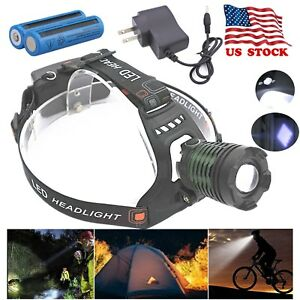 990000LM-Tactical-Headlight-Camping-Rechargeable-T6-LED-Headlamp-Battery-Charger