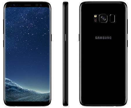 New Imported Samsung Galaxy S8 Duos 64GB 4GB 4G - Midnight Black - Warranty