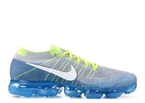 acf7c8c516851 New Nike Air Vapormax Flyknit Sprite Wolf Grey Chlorine Blue 849558 ...