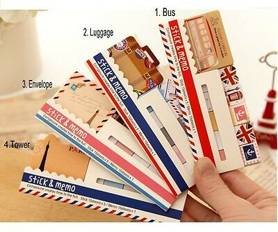 Fun Journey Sticky Notes Index Memo Pad Marker Point Flags SN-FJ-001