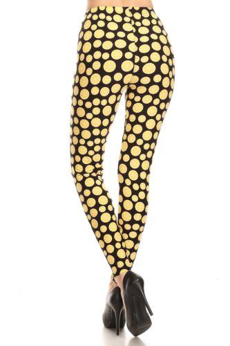 Women/'s 3 X 5X Lemon Fruit Pattern Printed Leggings