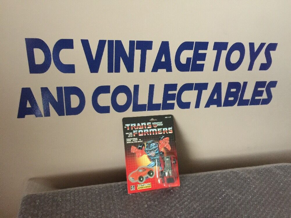 Vintage Hasbro 1984 Transformers G1 Original Mini-BOT Windcharger-Craquelé bulle -   bénéfice nul
