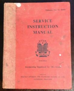 Service-Instruction-Manual-TRIUMPH-TR2-With-Supplement-For-TR3-Model-2nd-Ed-HC