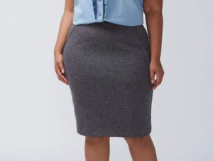 50e7b13d103 Lane Bryant NEW  70 ponte gray black pencil skirt plus size 26 - NWT ...