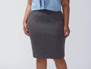 47fec727b82 Lane Bryant NEW  70 ponte gray black pencil skirt plus size 26 - NWT ...