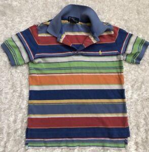 bf6ebf76d Ralph Lauren Kids Shirt Size 4/4T Polo Short Sleeves Stripes Collar ...