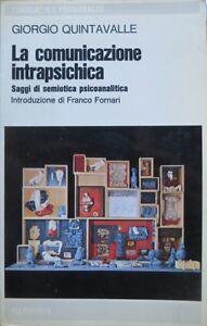 La comunicazione intrapsichica: saggio di semiotica psicoanalitica. Introduzione