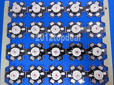 50pcs 3W Orange High Power LED Light Bead Emitter 600-610nm with 20mm star base