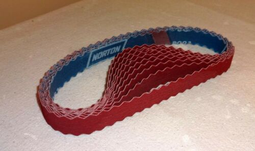 "Superior Edge Holding-Scalloped Norton Sanding Belts 1/""x 24/""//Grit 100 10 belts"