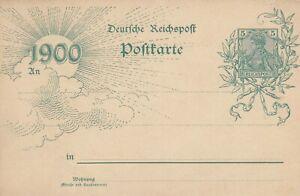 REICHSPOST-Postkarte-1900-Reichspost