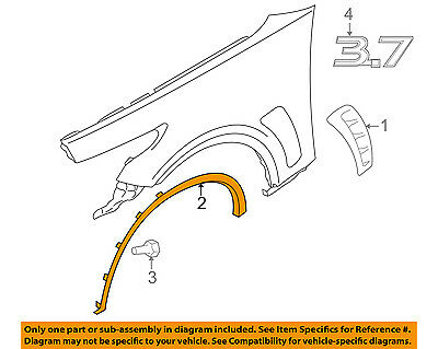 Infiniti NISSAN OEM Front Fender-Wheel Well Flare Arch Molding Right 63860CG000