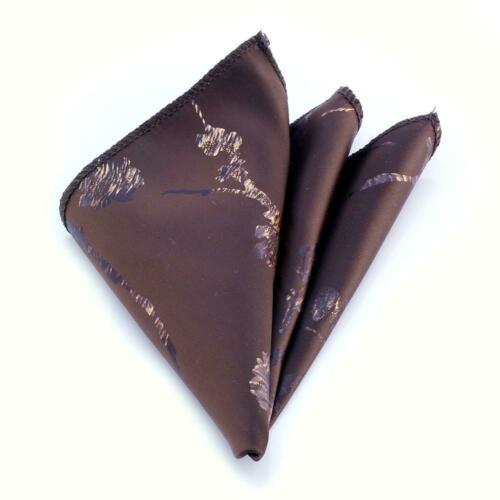 Amedeo Exclusive New Men/'s Brown White Snowflakes Handkerchief