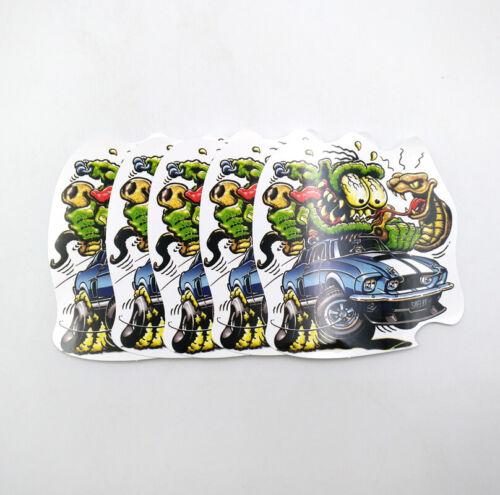 5pcs Ed Roth Hot Rods Graffiti Big Daddy Rat Fink Decal Wall Vinyl Stickers