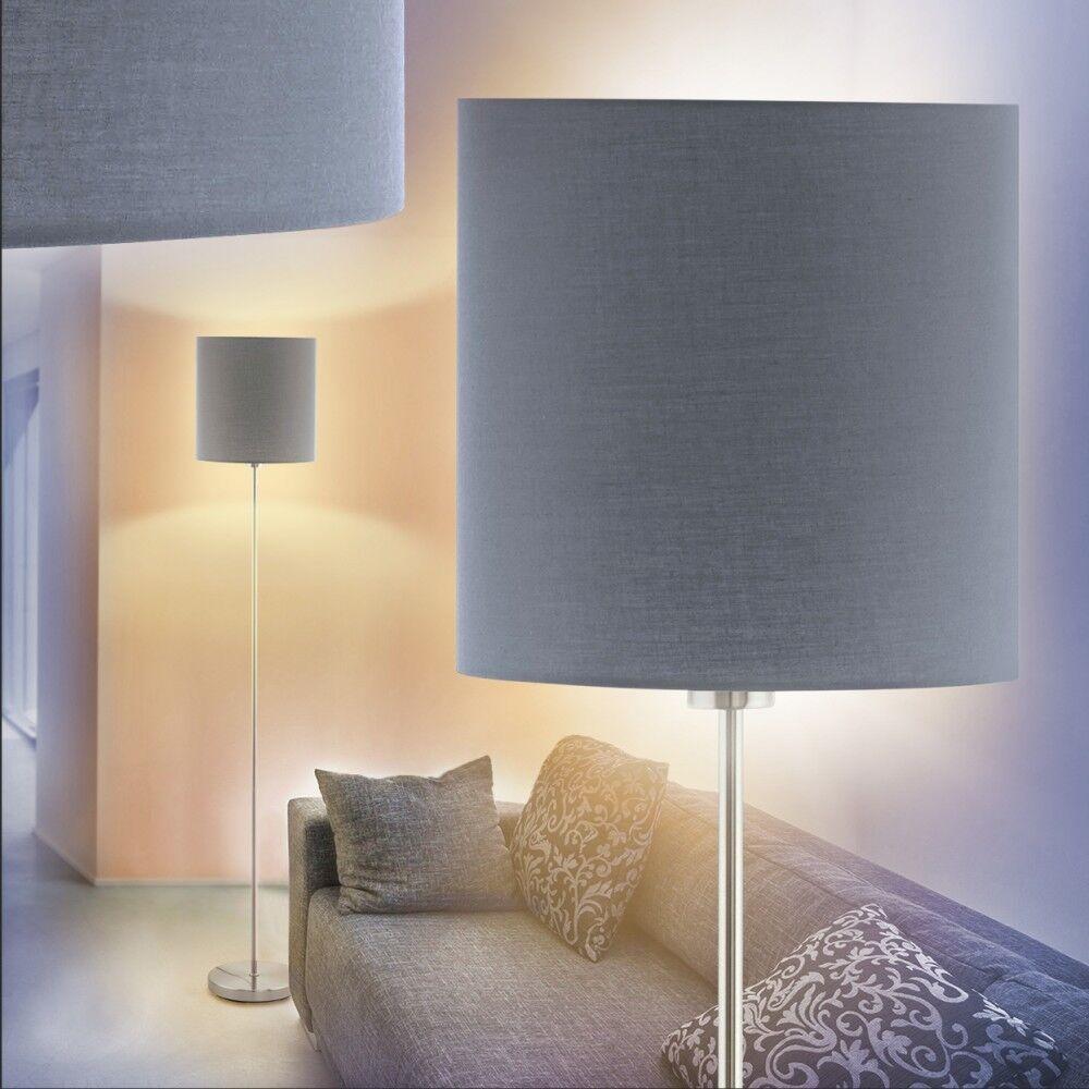 Retro Steh Boden Stand Lampen Stoff schwarz//gold Wohn Schlaf Zimmer Leuchten