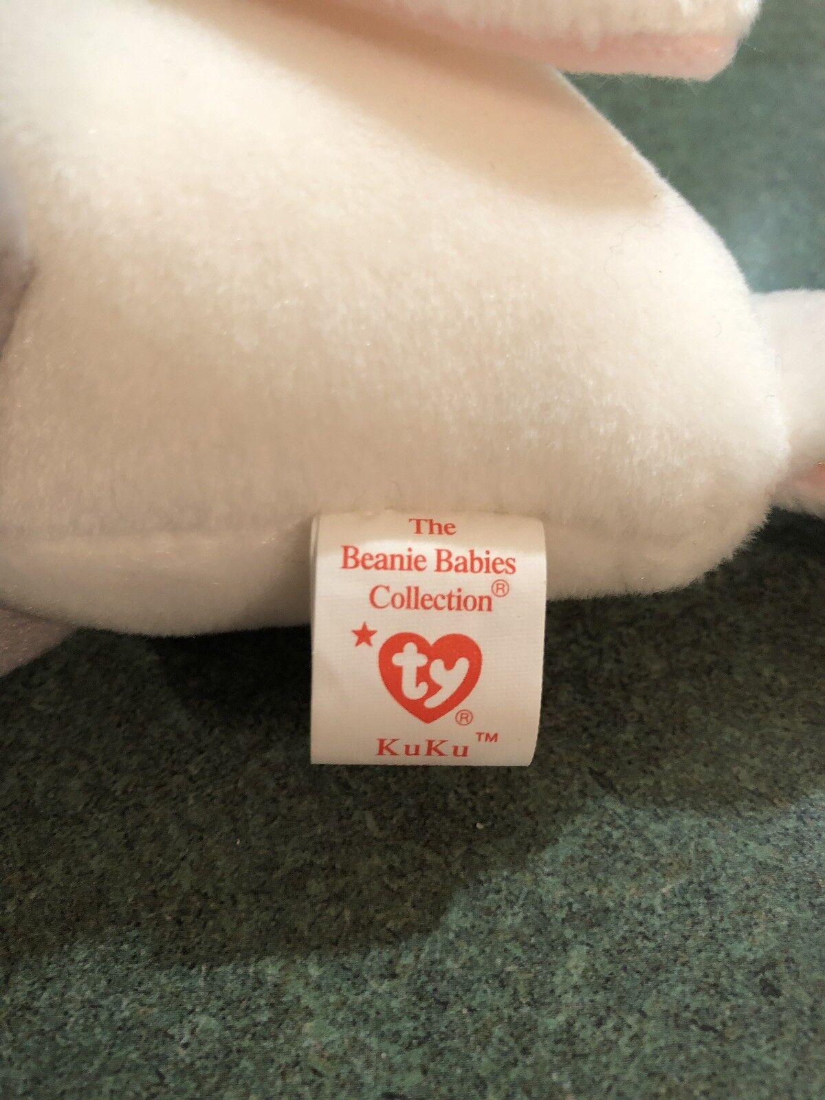 TY Beanie Beanie Beanie Baby Original - Kuku - RARE ERROR 10c68f