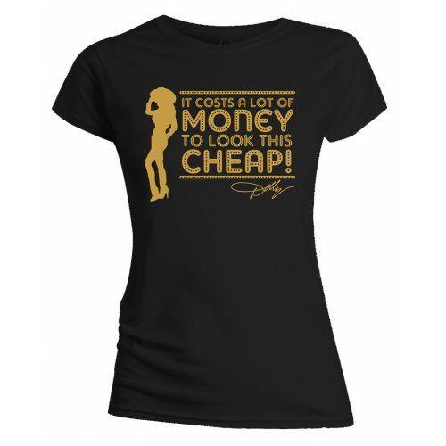 Dolly Parton Lot of Money Ladies Black Short Sleeve T Shirt Women Girls Official