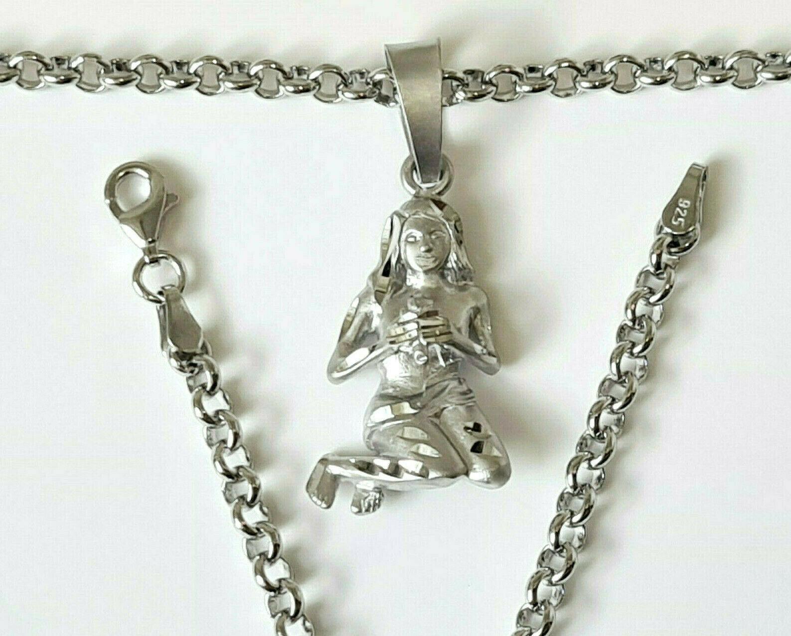Anhänger Sternzeichen JUNGFRAU 925 Silber Schmuck Kettenanhänger Kinder Virgo