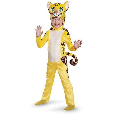 Disney Lion Guard Cheetah Fuli Halloween Costume Jumpsuit Headpiece Tail Girls S