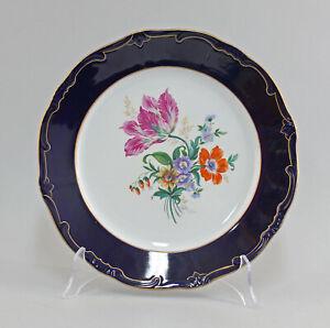 99840056-Porcelain-Plate-Weimar-Thuringia-Cobalt-Gold-Floral-Decoration