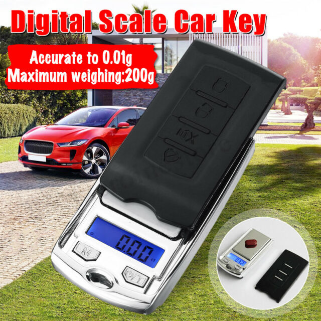 Mini LCD Electronic Digital Pocket Scale Jewelry Weight Scales Car Key Style UK
